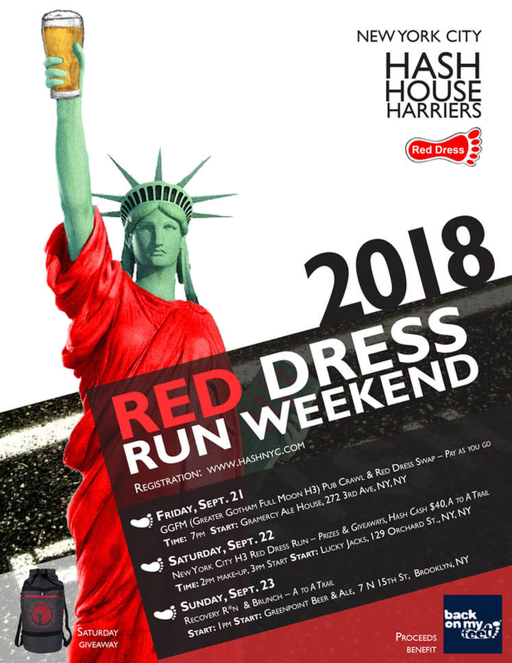 NYC red dress run poster